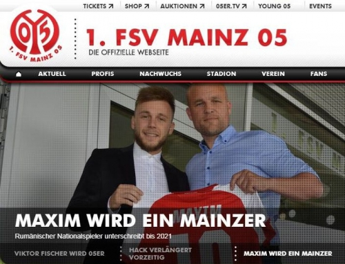 Alexandru Maxim signed with FSV Mainz 05 from the Bundesliga