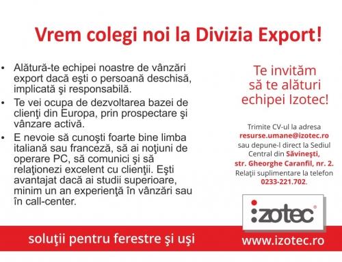 Vrem colegi noi la Divizia Export!
