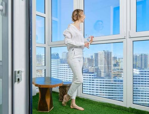 Închiderea balconului cu termopan